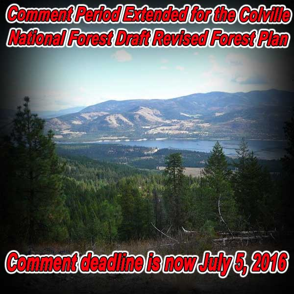 WASHINGTON – Comment Period Extended for the Colville Forest Draft Revised Forest Plan