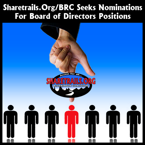 Sharetrails.Org/BRC Seeks Nominations For Board Of Directors Positions