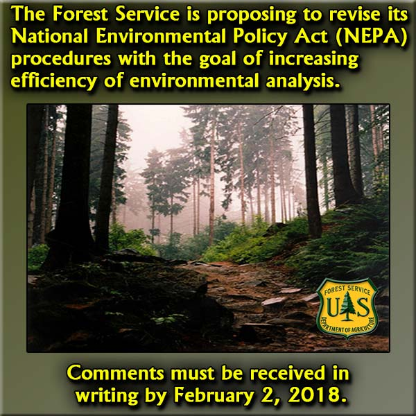 USFS is Proposing to Revise Its National Environmental Policy Act (NEPA) Procedures
