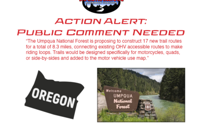 Action Alert – Public Comment Needed for New Trails in the Umpqua National Forest