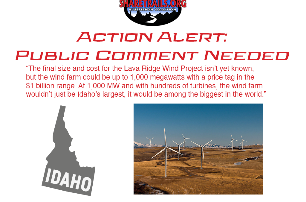 Action Alert – Public Comment Needed for Massive Wind Project in Idaho